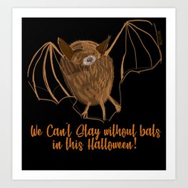Adorable bats for Halloween (Black) Art Print