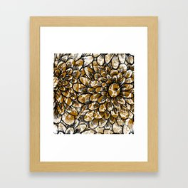 Moroccan Sunflower Framed Art Print