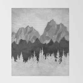 Layered Landscapes Throw Blanket