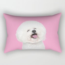 Laughing Puppy Rectangular Pillow