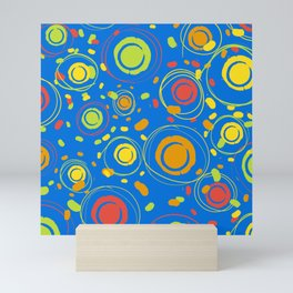 Patio Lantens Blue Mini Art Print
