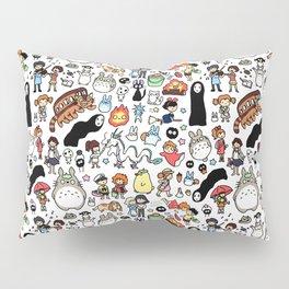Kawaii Ghibli Doodle Pillow Sham