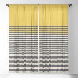 Mid Century Modern Art Print, Abstract Rainbow Arch wall art, Geometric Arch Print, yellow wall art, Sheer Curtain