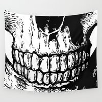 teeth Wall Tapestries featuring Teeth by Mike Hague Prints