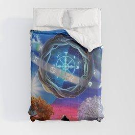 X . The Wheel Tarot Card Illustration Comforters