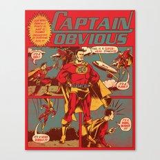 Captain Obvious! Canvas Print