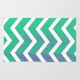 Patterned Chevron (Green) Rug