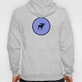 Bull Moose Silhouette on Periwinkle Hoody