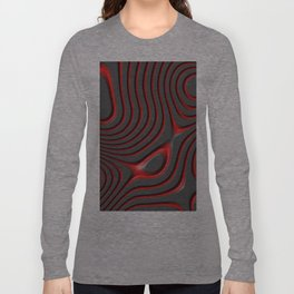Organic Abstract 01 RED Long Sleeve T-shirt