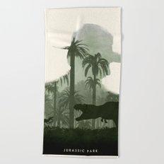 Jurassic Park Beach Towel
