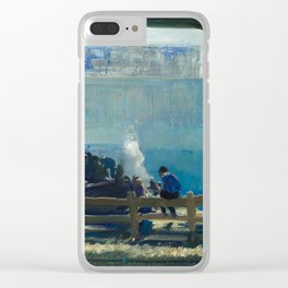 Blue Morning, 1909 by George Bellows Clear iPhone Case