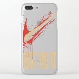 Just Do It Clear iPhone Case