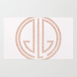 great Gatsby white rose gold Rug