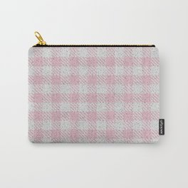 Light Pink Buffalo Plaid Carry-All Pouch