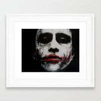 the joker Framed Art Prints featuring Joker by waynemaguire777