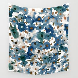 Georgia Floral Blue Wall Tapestry