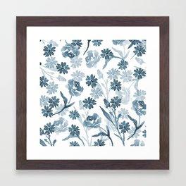 Paint it Blue Framed Art Print