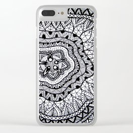 Doodle1 Clear iPhone Case