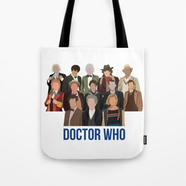 Doctor Who Through the Years Tote Bag