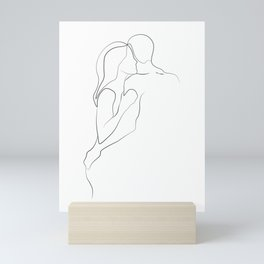 Lovers - Minimal Line Drawing Art Print3 Mini Art Print