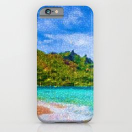 Pacific Isles, A Landscape Painting by Jeanpaul Ferro iPhone Case