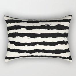 Tribal Stripes Black on Cream Rectangular Pillow