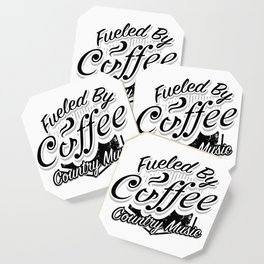 Coffee And Country Music Funny Musicians Gifts Coaster