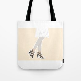 Woman with beautiful legs Tote Bag