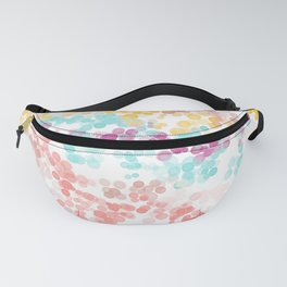 Modern abstract pink coral teal watercolor bokeh pattern Fanny Pack