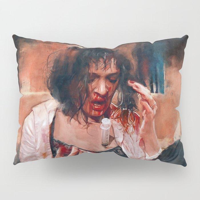 Adrenaline Shot - Mia Wallace - Pulp Fiction Pillow Sham