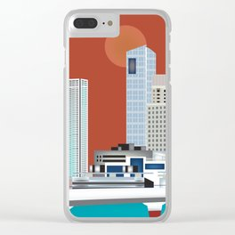 Buenos Aires, Argentina - Skyline Illustration by Loose Petals Clear iPhone Case