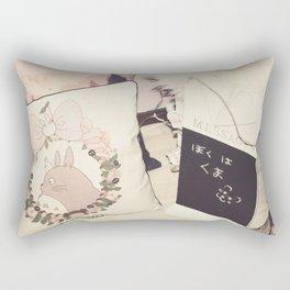 Message From Kuma Rectangular Pillow