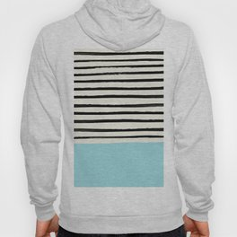 Sky Blue x Stripes Hoody
