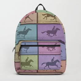 Time Lapse Motion Study Horse Color Backpack