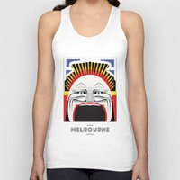 melbourne Tank Tops featuring Melbourne by George Williams