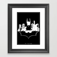 Bat in the City Framed Art Print