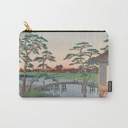 Mokuboji Temple Vintage Ukiyo-e Japanese Art Carry-All Pouch