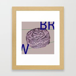 Brillo Framed Art Print