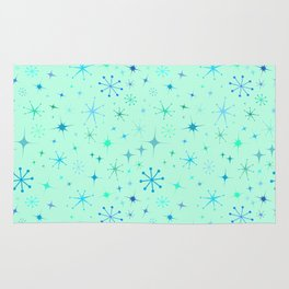 Atomic Starry Night in Mod Mint Rug