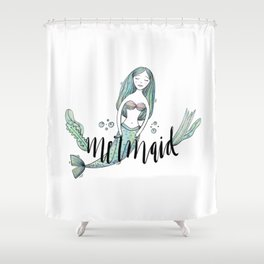 Art sleeping mermaid Shower Curtain