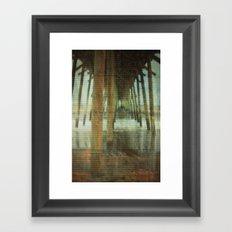 Kure Beach North Carolina Fishing Pier Framed Art Print