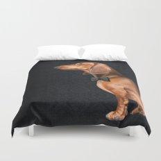 Elegant dachshund. Duvet Cover
