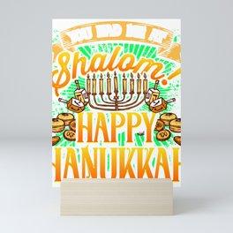 Hanukkah You Had me at Shalom Happy Hanukkah Mini Art Print