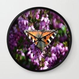 Tortoiseshell Butterfly Wall Clock