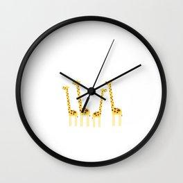 Giraffic Jam Safari Wall Clock