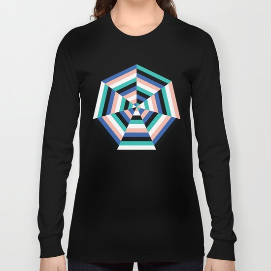 Heptagon Quilt 3 Long Sleeve T-shirt
