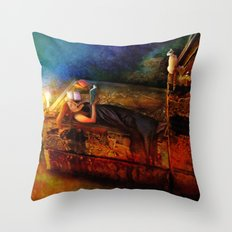 Ex Libris Throw Pillow