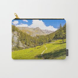 Path in the woods on the Alps in summer Carry-All Pouch