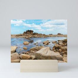 Seascape in the coast of Brittany Mini Art Print