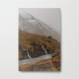 Water falls in Glen Etive Metal Print
